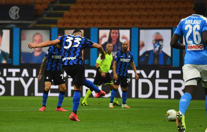 Inter Napoli'yi uzaktan avladı