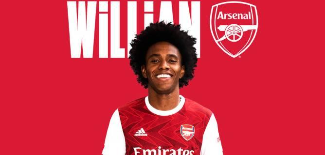 Willian resmen Arsenal'de
