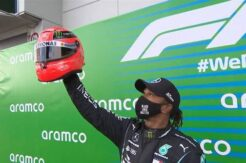 Hamilton Schumacher'i yakaladı