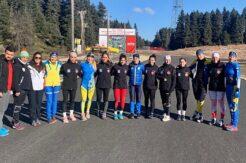 Koşulu kayakta Ukrayna ile ortak kamp