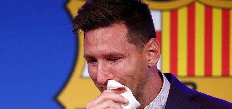 Messi'nin ayrılık gözyaşları