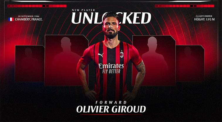 Olivier Giroud resmen Milan'da
