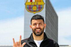 Agüero resmen Barcelona'da