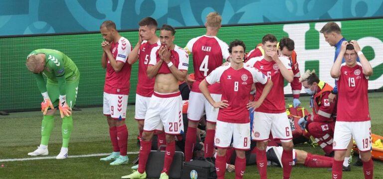 Danimarka-Finlandiya maçında üzücü olay