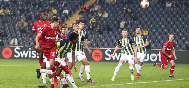 Fenerbahçe Antwerp'i geçemedi